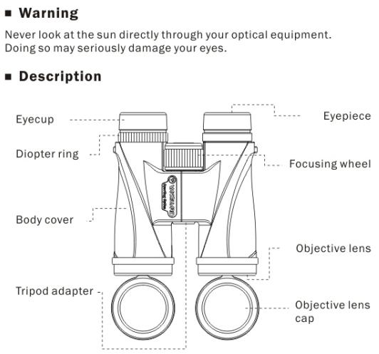 Vanguard Spirit ED Binoculars instruction manual