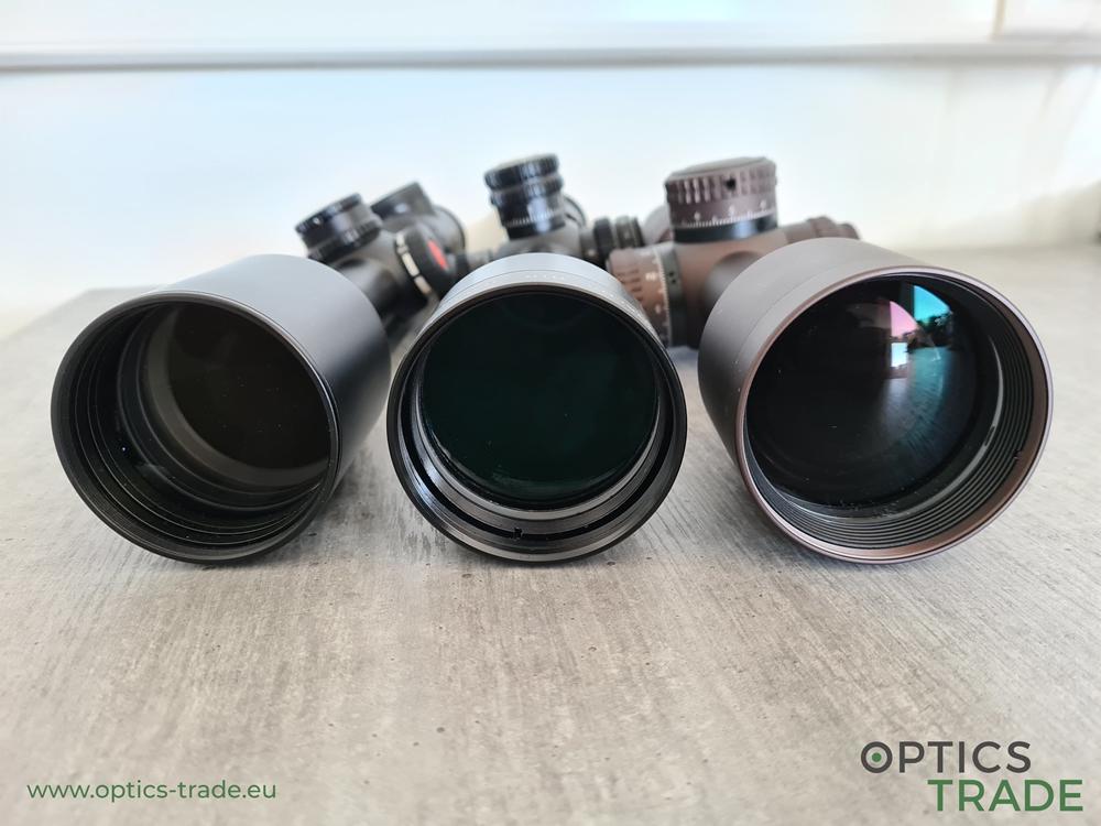 Outer objective diameter comparison