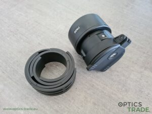 Pulsar FN adapter with included plastic inserts for Pulsar F455 (this adapter is suitable for riflescopes with an objective diameter anywhere from 60 to 65 mm)