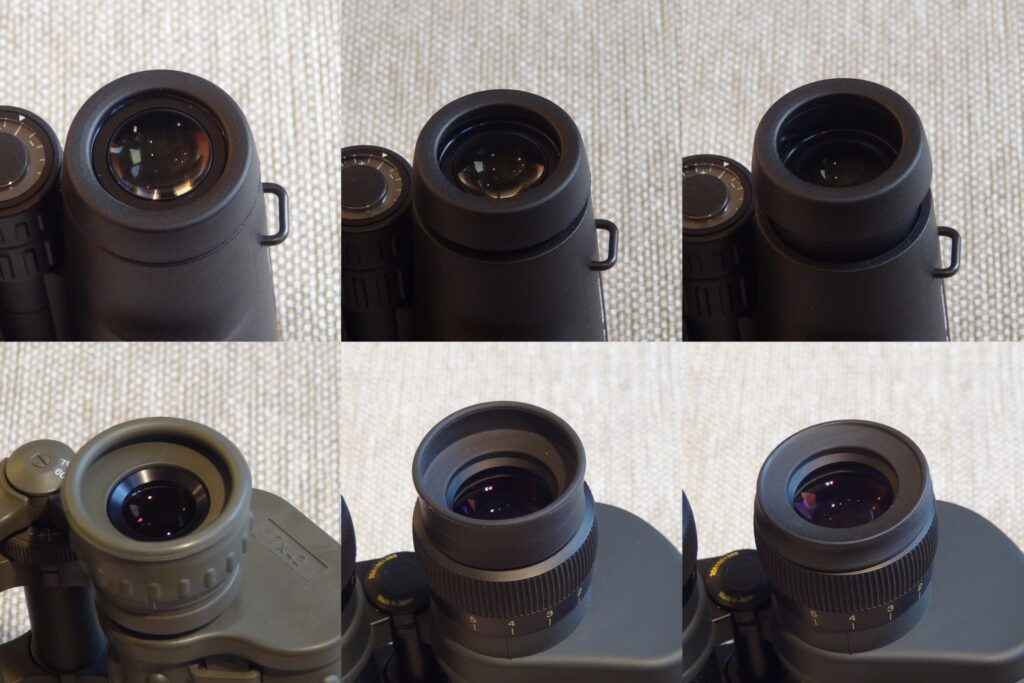 Binoculars eye pieces