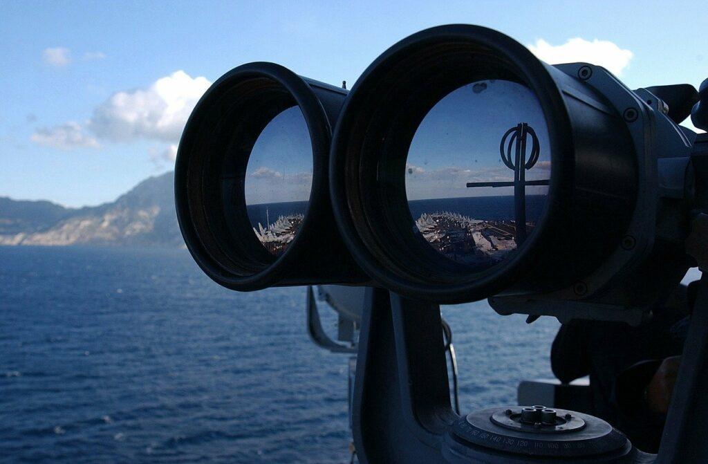 Binoculars and Water