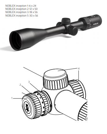 Noblex Inception Rifle Scopes Instruction Manual