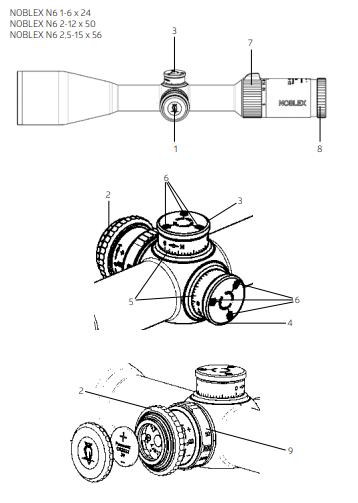 Noblex N6 Rifle Scopes Instruction Manual
