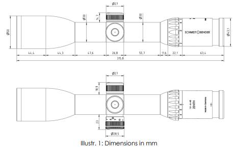 Instructions SCHMIDT & BENDER 1.5-6x42 Zenith