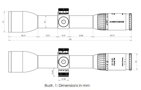 Instructions SCHMIDT & BENDER 2.5-10x50 Polar T96