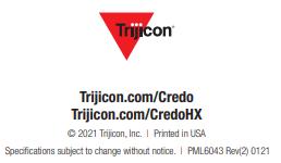 Trijicon Credo Instruction Manual