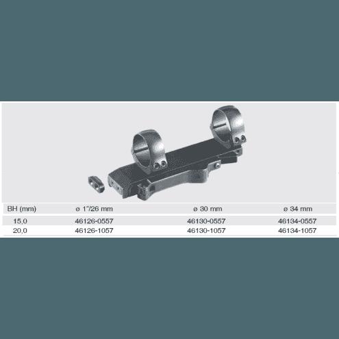 Recknagel SSK-II one-piece mount for Picatinny / Weaver rail