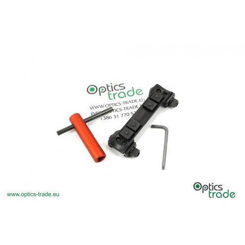 Recknagel One-piece tip-off mount for Picatinny, Schmidt & Bender Convex rail, nut