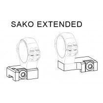 Optilock Sako Extended Base, Stainless Steel