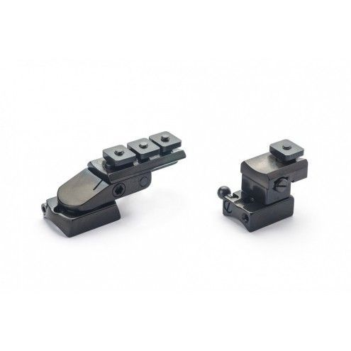 Rusan Pivot mount for Roessler Titan 16, S&B Convex rail