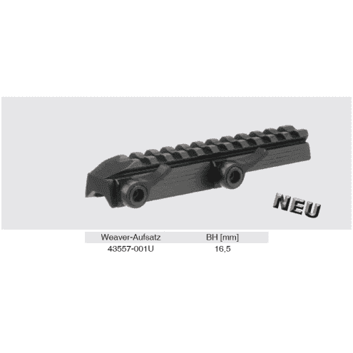 Recknagel Tip-off Mount for Merkel KR1, B3 & B4, Top weaver rail