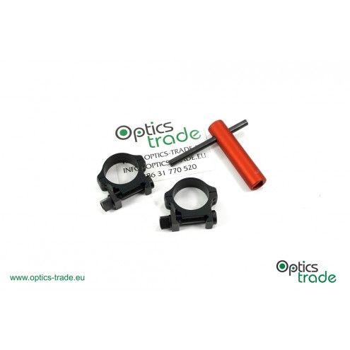 Recknagel Tactical scope rings, 26mm, nuts