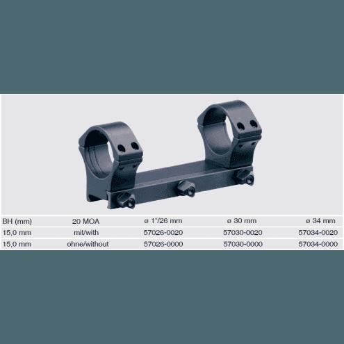 Recknagel One-piece scope mount for Picatinny, 26mm