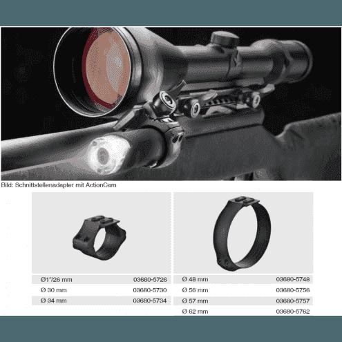 Recknagel Scope ring, 57mm, UNIVERSAL-interface