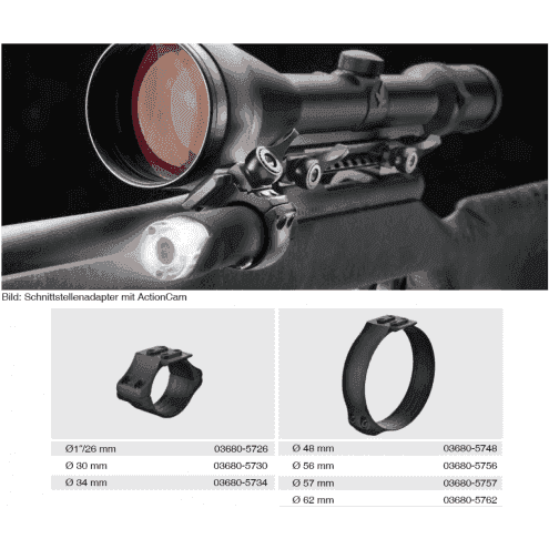 Recknagel Scope ring, 34mm, UNIVERSAL-interface