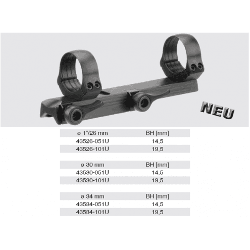 Recknagel Tip-off Mount for Merkel KR1, B3 & B4, 26mm