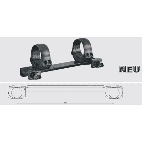 Recknagel One-piece tip-off mount for Picatinny, 26mm, nuts