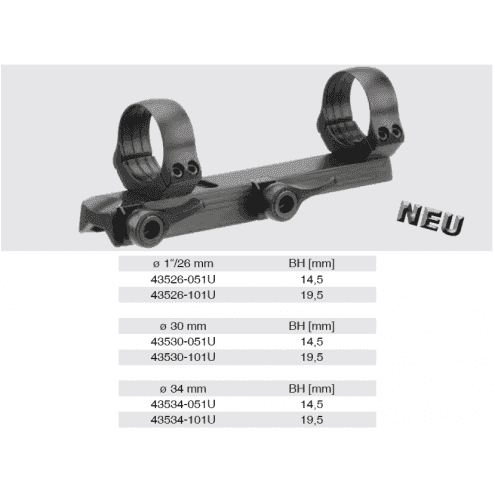 Recknagel Tip-off Mount for Merkel KR1, B3 & B4, 30mm